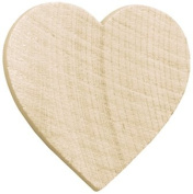Wood Turning Shapes-Standard Heart 2.5cm x 2.5cm X1/20cm 8/Pkg