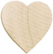 Wood Turning Shapes-Standard Heart 2.5cm x 2.5cm X1/20cm 8/Pkg