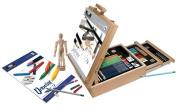 Royal All Media 124 Piece Sketching & Drawing Easel Artist Set