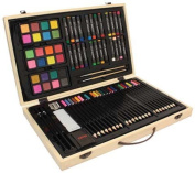 Us Art Supply® 82 Piece Deluxe Art Creativity Set in Wooden Case - Deluxe Art Set -Great Gift for Drawing and Painting