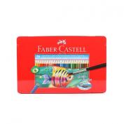 Faber Castell Watercolour Pencil Set of 36 Assorted Colour Tin Case