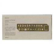 Midori Brass Bookmark Number Template