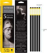Nitram Charcoal X-Soft 6Mm Round Sticks 5/Pk