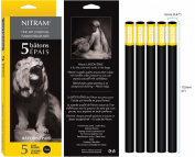 Nitram Charcoal X-Soft 12Mm Round Sticks 5/Pk