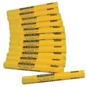 Dixon 49600 Lumber Marking Crayons, Yellow, 12-Pack