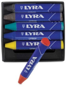 LYRA LYRAX Wax-Giants Large Triangular Beeswax Crayons, Set of 6 Crayons, Assorted Colours