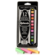 Quartet Alphacolor Soft Pastels, Fluorescents, 12 Pastels per Set