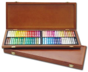 Mungyo Gallery Oil Pastels Wood Box Set of 72 Standard - Assorted Colours