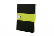 Moleskine Cahier Journal (Set of 3), Extra Large, Plain, Black, Soft Cover