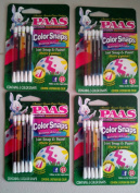 No Mess Easter Egg Colouring Kit, PAAS colour SNAPS, (4 PACK) Painting Eggs with Food Safe Dyes, Perfect for Groups of Kids, Allows Artistic Drawing Designs