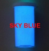 Sky Blue Glow-in-the-Dark Powder 30 gramme ~ Pigment