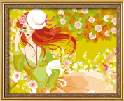 Diy oil painting, paint by number kit- Charming 16*50cm .