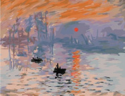 Diy oil painting, paint by number kit- worldwide famous oil painting Impression Sunrise by Monet 16*50cm .