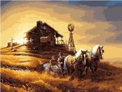 Diy oil painting, paint by number kit- Bumper(2) 16*50cm .