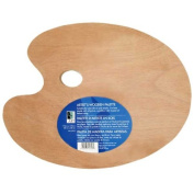Wooden Palette 11.75x15.75 Oval