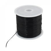 Black Stretchy Elastic Crystal String Beading Thread Spool 656 Ft 200M