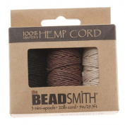 Hemp 1mm Twine Bead Cord, 9m, Natural