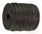 Waxed Cotton Cord 100 Metres Black 2mm