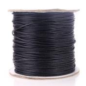 Beadnova 1mm Waxed Cotton Beading Cord Waxed String Wax Coating Cord 100 yards Roll Spool