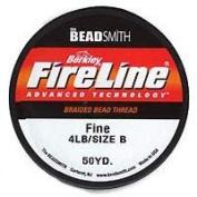 Fireline Braided Beading Thread .15cm - Smoke Grey- 50 Yd