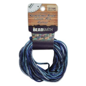 2mm Satin Rattail Braiding Cord Blue Tones 12 Yards For Kumihimo and Craft 420181