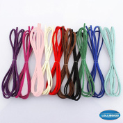 Faux Suede Leather Micro Fibre Cord Assorted Colours for Friendship Bracelet Braiding String 3mm - 1m x 10 Colours