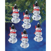 Beadery Holiday Beaded Ornament Kit, Faceted Elegant Snowmen, 5.1cm by 2.5cm Makes 12