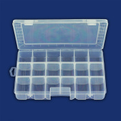 Professional Organiser Case 18 Compartment Rounded Bottoms - Beads Jewellery Findings Arts & Crafts