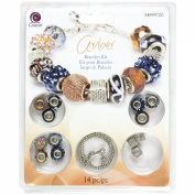 Cousin 14-Piece Hole Bracelet Kit, Large, Amber