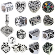 Timeline Treasures European Style Charm Bracelet Beads Fits Pandora Family Love