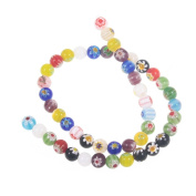 Beautiful Bead 8mm Assorted Colours Glass Beads For Bracelets Or Necklaces