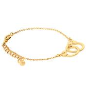 Demarkt Women's Simple Handcuff Style Chain Bangles Bracelet
