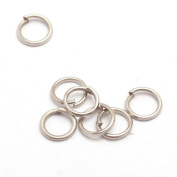 GEM-inside 4.5mm Silver Plated Open Jump Rings For Jewellery Making Findings