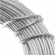 Aluminium Craft Wire 18 Gauge 12m SILVER