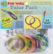 Plastic Coated Fun Wire Value Pack 2.7m Coils-24 Gauge Translucent 6/Pkg