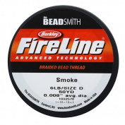 FireLine Braided Bead Thread .20cm Smoke Grey
