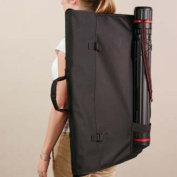 Black Canvas Backpack Artist Portfolio Carrying Case 60cm x 70cm