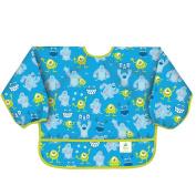 Bumkins Disney Baby Waterproof Sleeved Bib, Monsters Blue, 6-24 Months