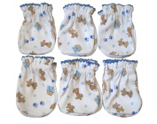 6 Pairs Cotton Newborn Baby/infant Boy No Scratch Mittens Gloves - Cute Little Dog