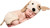 Melondipity Perfect Puppy Dog Baby Hat & Nappy Cover SET - Newborn / Infant