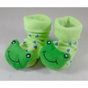 Toogoo(r) Green Frog-cute Baby Boy Girl 3d Bootie Socks Anti Slip