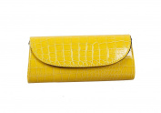 Bundle Monster Womens Envelope Evening Patent Croc Skin Embossed Party Clutch