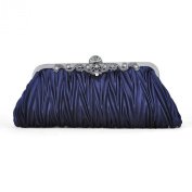 Pleated Satin Clutch/ Evening Handbag, Gift Idea