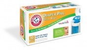 Munchkin Arm & Hammer Nappy Pail Refill Bags, 10 count - 4 Pack