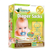 Green N Pack Scented Refill Baby Nappy Bags (10 Refill Rolls, Value Pack), 200-Count