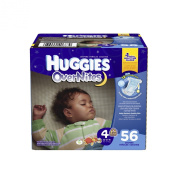 Huggies Overnites Nappies, Size 4, 56 Count