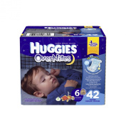 Huggies Overnites Nappies, Size 6, 42 Count