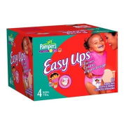Pampers Easy Ups Trainers for Girls, Size 4, 88 Count