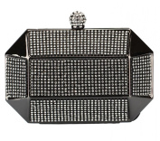 Chicastic Rhinestone Stud Octagon Hard Box Clutch Wedding Bridal Bridesmaid Cocktail Evening Bag
