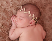 Gold Colour Leaf Wrap Headband